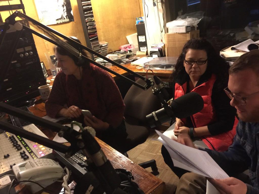 Pilot radio episode recording session